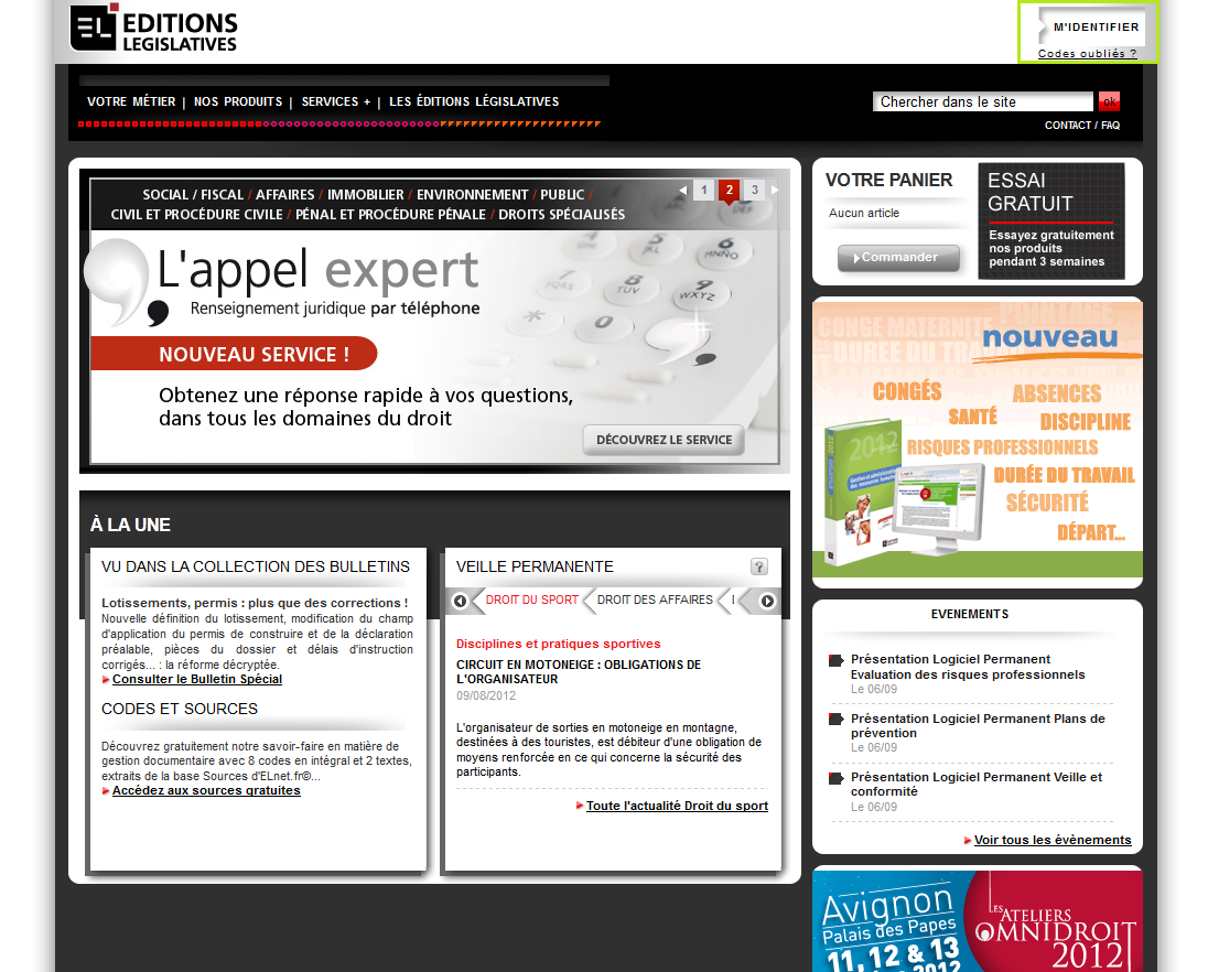 Login of Editions Législatives