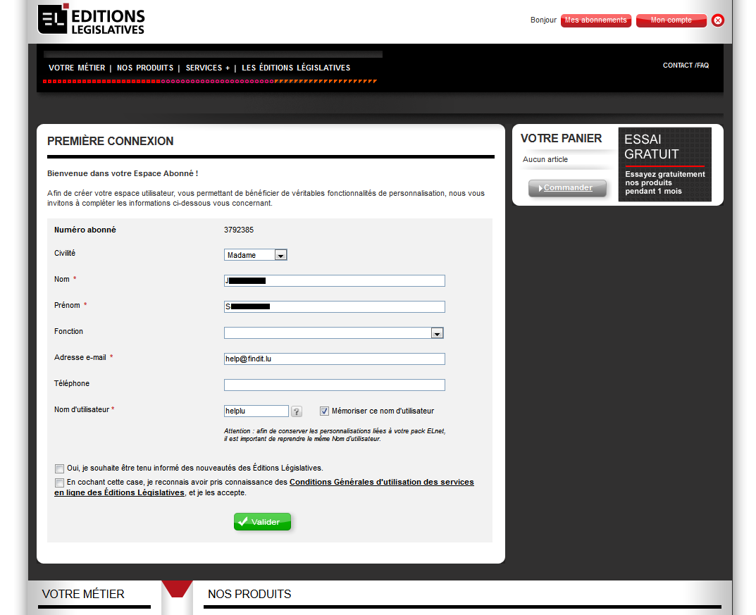 Registration Form New User