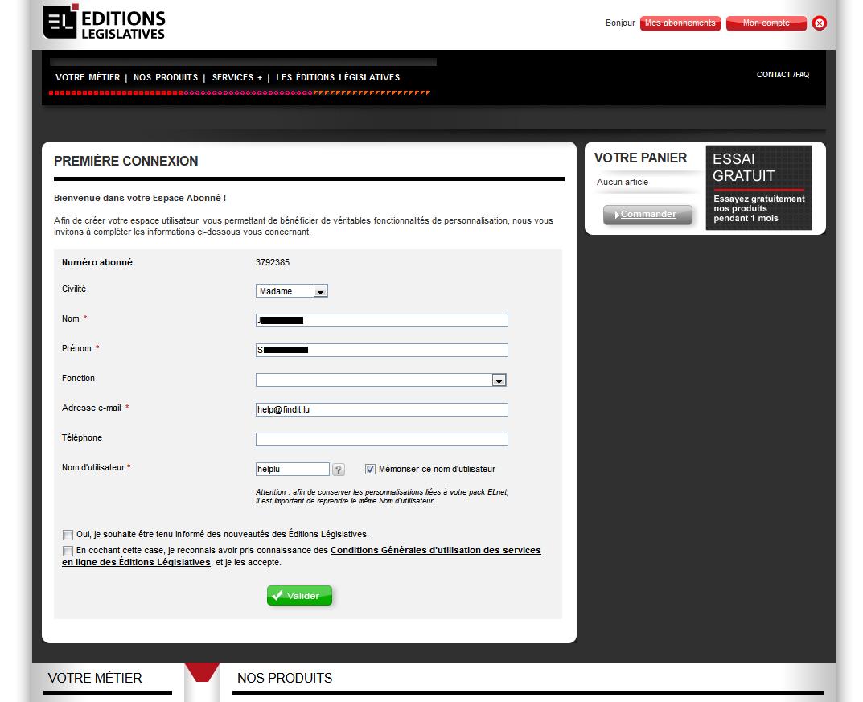Registration Form New User