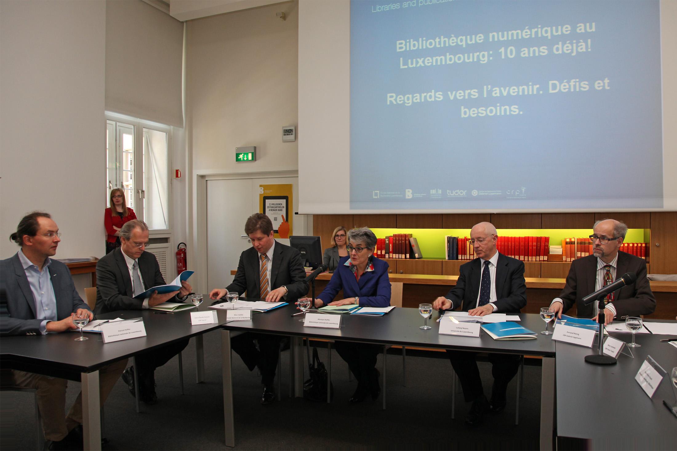 Les représentants du « Consortium Luxembourg » et du FnR