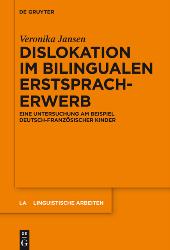 Dislokation im bilingualen Erstsprachenerwerb