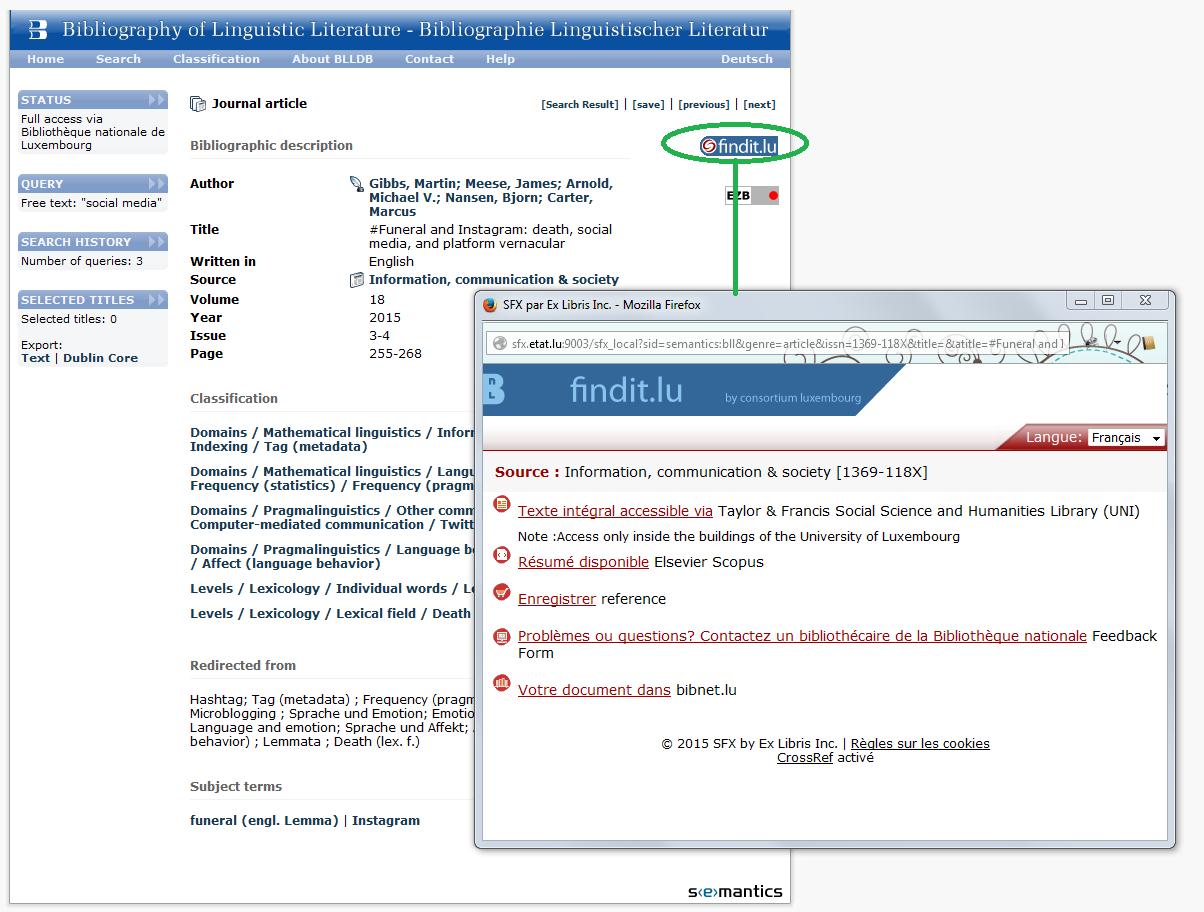 Linkresolver Screenshot