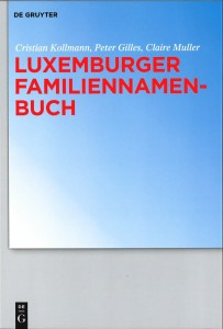 Luxemburger Familiennamenbuch Cover
